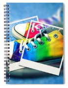 Rainbow Sneakers One Spiral Notebook