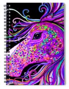 Rainbow Spotted Horse Head 2 Spiral Notebook