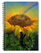 Rainbow Sunflower Spiral Notebook
