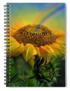 Rainbow Sunflower Spiral Notebook