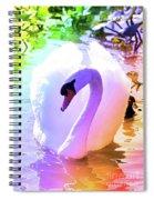 Rainbow Swan Spiral Notebook