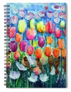 Rainbow Tulips Spiral Notebook