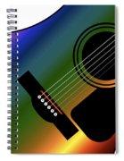 Rainbow Western Guitar Spiral Notebook
