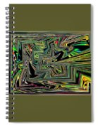 Rainbow World On A Clear Day Spiral Notebook