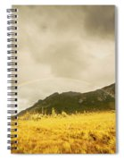 Raindrops In Rainbows Spiral Notebook