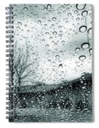 Raindrops Spiral Notebook