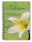 Raindrops On Lily Spiral Notebook