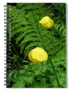 Raindrops On Yellow And Green Spiral Notebook