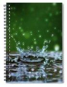 Raindrops Rejuvinate Spiral Notebook