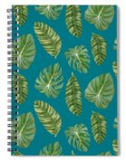 Rainforest Resort - Tropical Leaves Elephant's Ear Philodendron Banana Leaf Spiral Notebook