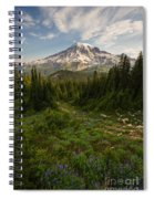 Rainier And Majestic Meadows Of Wildflowers Spiral Notebook