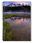 Rainier Sunrise Cap Spiral Notebook