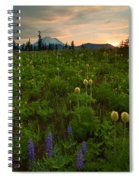 Rainier Wildflower Light Spiral Notebook