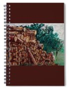 Raining Day - Woods Spiral Notebook