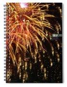 Raining Golden New Year Wishes Spiral Notebook