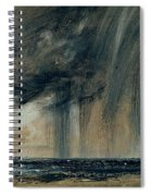 Rainstorm Over The Sea Spiral Notebook