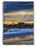 Rainy Beach Spiral Notebook