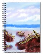 Rainy Beach Scene Spiral Notebook