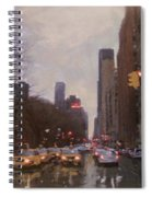 Rainy City Street Spiral Notebook