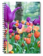 Rainy Day Flowers Spiral Notebook