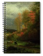 Rainy Day In Autumn Spiral Notebook