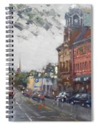 Rainy Day In Downtown Brampton On Spiral Notebook