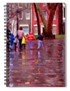Rainy Day Rainbow - Children At Independence Square Spiral Notebook