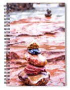 Rainy Day Stone Cairns In Sedona Spiral Notebook