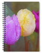 Rainy Day Tulips Spiral Notebook