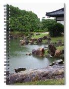 Rainy Japanese Garden Pond Spiral Notebook