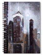 Rainy Night Downtown Spiral Notebook