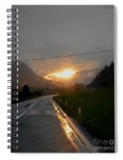 Rainy Sunset Spiral Notebook