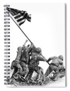 Raising The Flag Spiral Notebook