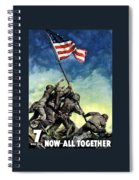 Raising The Flag On Iwo Jima Spiral Notebook