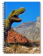 Rajasaurus In The Desert Spiral Notebook