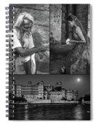 Rajasthan Collage Bw Spiral Notebook