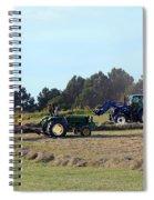 Raking And Baling Hay In Texas Spiral Notebook