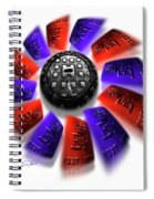 Rally Round The Flag Spiral Notebook