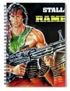 Rambo 2 Sylvester Stallone Paintinf Spiral Notebook
