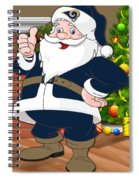 Rams Santa Claus Spiral Notebook