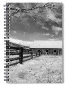 Ranch In Winter Spiral Notebook