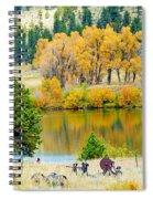 Ranch Pond In Autumn Spiral Notebook