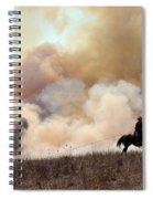 Rancher Starting A Controlled Burn Spiral Notebook