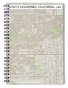 Rancho Cucamonga California Us City Street Map Spiral Notebook