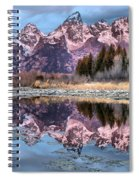 Grand Teton Snow Capped Reflections Spiral Notebook
