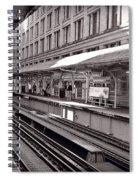 Randolph Street Station Chicago Spiral Notebook
