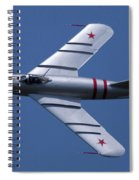 Randy Ball's Mig-17f Banking Left Spiral Notebook