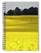 Rape Field In East Germany Spiral Notebook