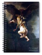 Rape Of Ganymede Spiral Notebook