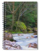 Rapids At The Rivers Bend Spiral Notebook